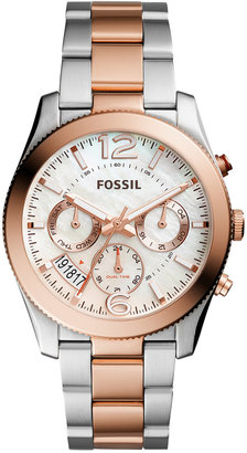 Fossil Women's Perfect Boyfriend Two-Tone Stainless Steel Bracelet Watch 39mm ES4135 $165 thestylecure.com