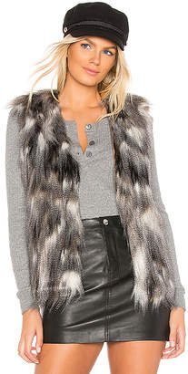 Cupcakes And Cashmere Frisco Faux Fur Vest