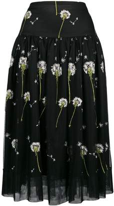 Blugirl dandelion embroidered midi skirt