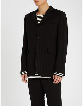 Ann Demeulemeester Chevron-patterned wool-blend jacket