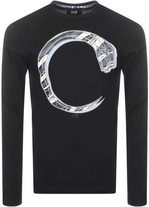 Just Cavalli Cavalli Class Long Sleeve Snake T Shirt Black