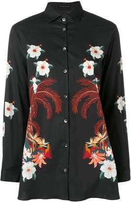 Etro floral print stretch-poplin shirt