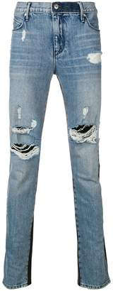 RtA contrast material jeans