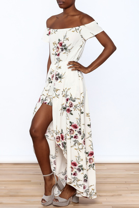 A Peach Floral Maxi Romper $36.99 thestylecure.com