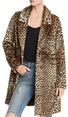 Aqua Cheetah Print Faux Fur Coat - 100% Exclusive