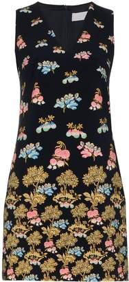 Peter Pilotto sleeveless V-neck stamp print dress
