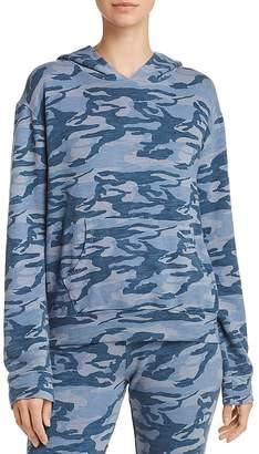Monrow Camo Hooded Sweatshirt