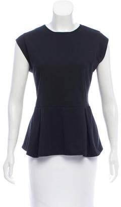 Neiman Marcus Short Sleeve Peplum Top
