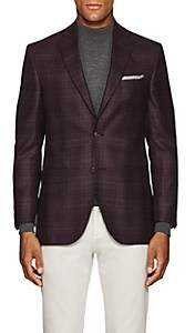 Piattelli MEN'S CHECKED WOOL-SILK TWO-BUTTON SPORTCOAT