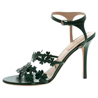 Valentino Green Leather Sandals