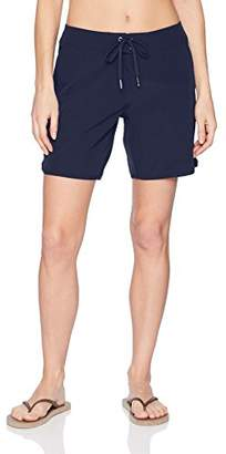"Nautica Women's Solid Boardshorts 7"" Swim Shorts"