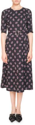 Altuzarra Elena Belted Half-Sleeve Dress