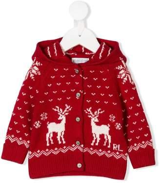 Ralph Lauren Kids Holiday motif cardigan