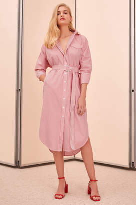 C/Meo COLLECTIVE PETITION SHIRT DRESS red stripe