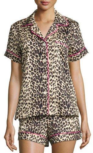 BedHeadBedhead Wild Thing Printed Shorty Pajama Set, Leopard, Plus Size