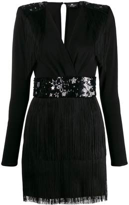 Elisabetta Franchi Star fringed mini dress