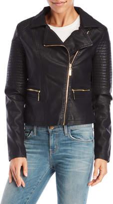 Joujou Jou Jou Faux Leather Moto Jacket