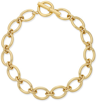 Lauren Ralph Lauren Gold-Tone Large Link Statement Necklace $78 thestylecure.com