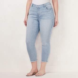 Lauren Conrad Plus Size Dot Skinny Ankle Jeans