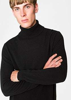 Paul Smith Men's Black Cashmere Roll Neck Sweater