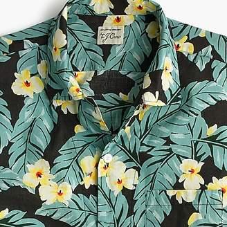 J.Crew Short-sleeve slub cotton shirt in jungle print