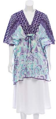Missoni Mare Knit-Trimmed Printed Tunic