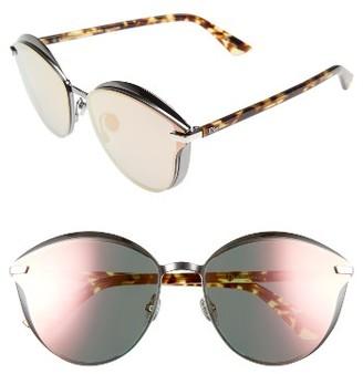 Women's Dior Murmure 62Mm Sunglasses - Dark Ruthenium/ Blue $775 thestylecure.com