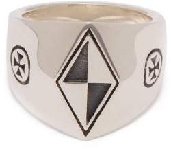 Vetements Anti Social Silver Signet Ring - Womens - Silver