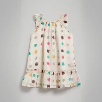 Burberry Graphic Spot Print Cotton A-line Dress