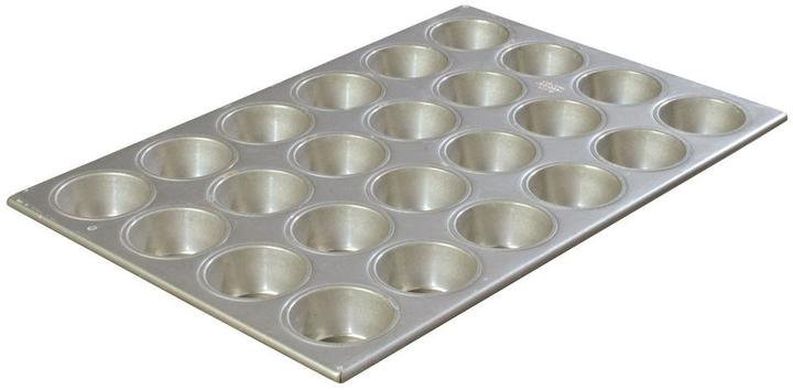 Carlisle Steeluminum 24-Cup Heavy Duty Muffin/Cupcake Pan, Large 3.50 oz./Cup (Case of 6)