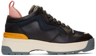 Fendi Black Leather T-Rex Sneakers