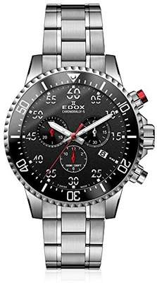 Edox Men's 'Chronorally-S' Quartz Stainless Steel Sport Watch
