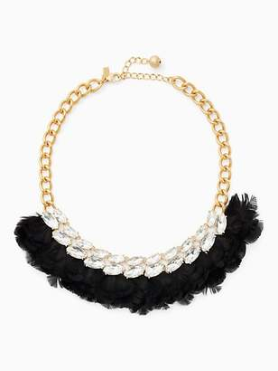 Kate Spade In full feather necklace