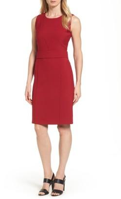 Women's Boss Dirasana Belted Sheath Dress $575 thestylecure.com