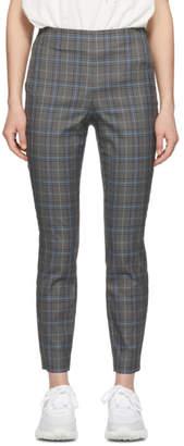 Rag & Bone Grey and Blue Check Meki Stripe Trousers