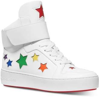 MICHAEL Michael Kors Women's Trent Rainbow Star High Top Sneakers
