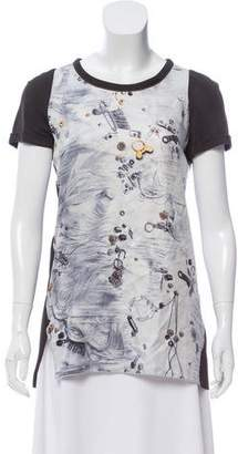 Giles Graphic Print Silk Top