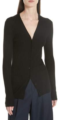 Vince Ribbed Skinny Cashmere Cardigan