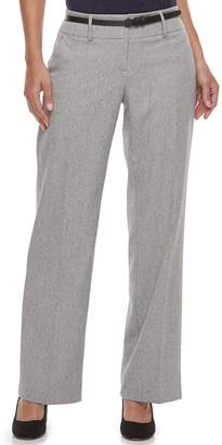 Apt. 9 Women's Belted Midrise Trouser Pants