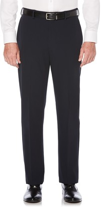 Savane Men's Active Flex 4-Way Stretch Flat Front Dress Pant