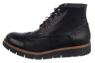 Barneys New York Barney's New York Leather Ankle Boots Black Barney's New York Leather Ankle Boots