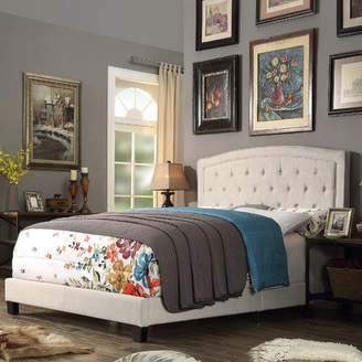 Charlton Home Rockaway Upholstered Panel Bed