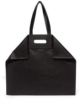 De Manta Leather Tote Bag - Mens - Black