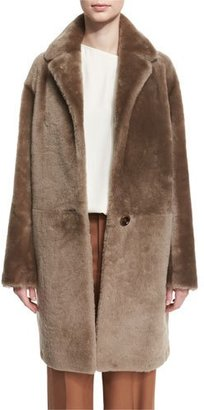 Helmut Lang Reversible Shearling Coat, Bisque $2,295 thestylecure.com