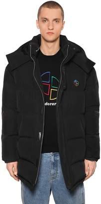 Ader Error Oversized Hooded Tech Down Jacket