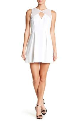 BCBGeneration Peek A Boo Fit And Flare Dress