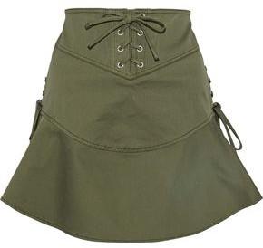 Marissa Webb Josie Lace-Up Cotton-Blend Canvas Mini Skirt
