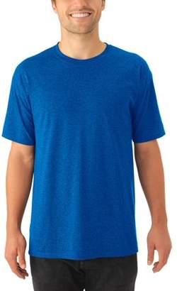 JERZEES Big Mens Tri-blend Short Sleeve Crewneck T Shirt, 2 Pack