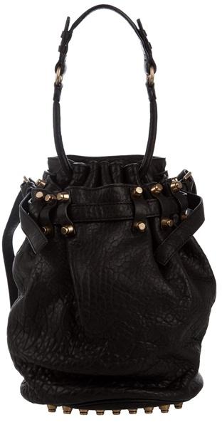 ALEXANDER WANG - ' Diego' studded leather bucket bag