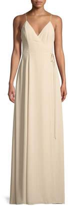 Fame & Partners Tilbury Sleeveless Wrap Gown